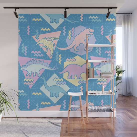 Nineties Dinosaurs Pattern  - Pastel version by chobopop