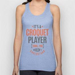 Croquet-Player Unisex Tank Top