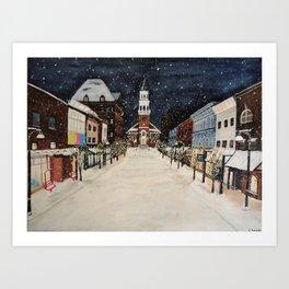 Burlington Vermont Chrurch Street Art Print