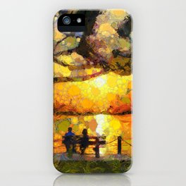 Love watching the sunset iPhone Case