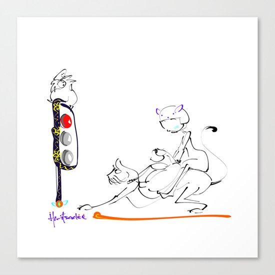 traffic lights Canvas Print