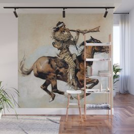 "Frederic Remington ""Buffalo Hunter Spitting Bullets"" Western Art Wall Mural"