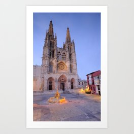 Burgos cathedral. Art Print