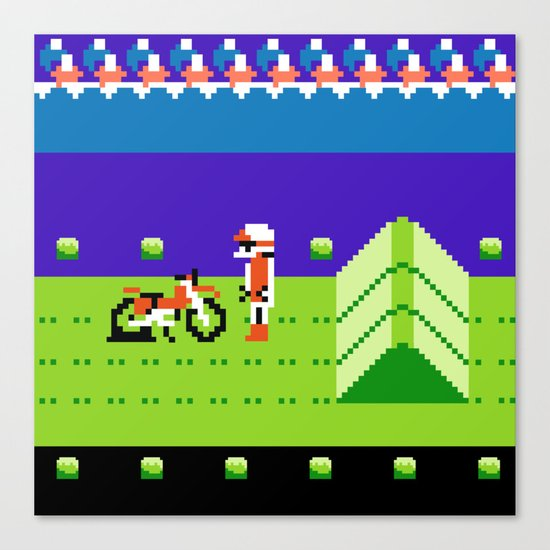 Punctured Bike Canvas Print