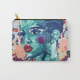 TURQUOISE LADY Carry-All Pouch