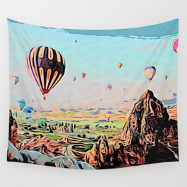 Cappadocia Otherworldly Ballooning Games Gas Event Mountain Country Wall Tapestry