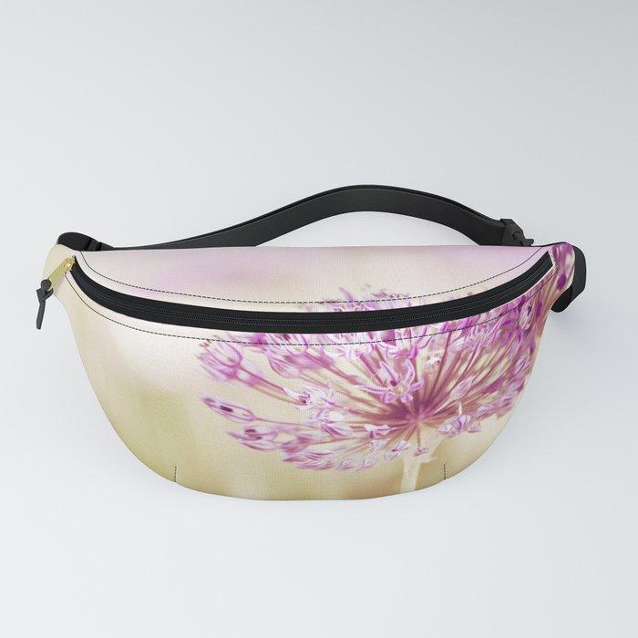 Pink Flower Photography, Purple Floral Art, Pink Beige Photo, Botanical Spring Artwork Fanny Pack