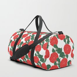 Red Dahlia Duffle Bag
