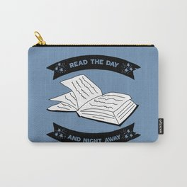 Read the Day and Night Away (Blue) Carry-All Pouch