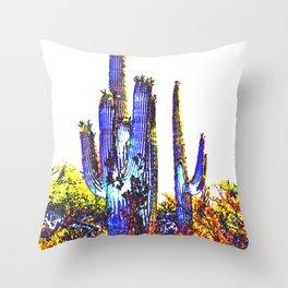 Desert Cacti Throw Pillow