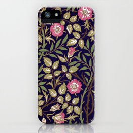 William Morris Sweet Briar Floral Art Nouveau iPhone Case