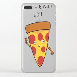 Funny-Pizza-Pun Clear iPhone Case