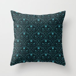 Turquoise Rose 2 Throw Pillow