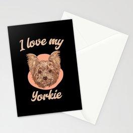 I Love My Yorkie - Cute Yorkie Mom Stationery Cards