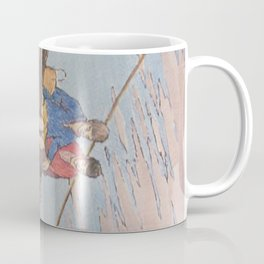 Dropping flowers in the stream Coffee Mug