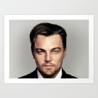 leonardo dicaprio Art Prints featuring Leonardo DiCaprio by modia