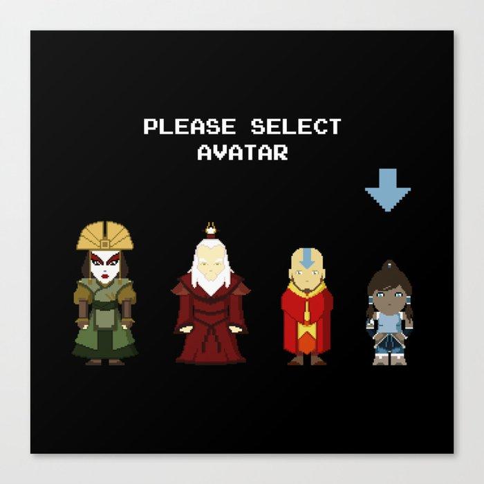 Avatar Selection Screen Canvas Print