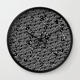 Microchip Pattern (White) Wall Clock