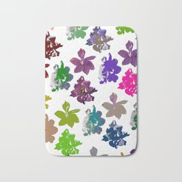 Gardenias in Color [Cecilia Lee] Bath Mat