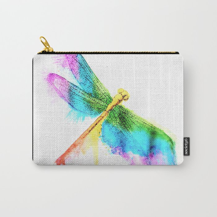 Rainbow Dragonfly Carry-All Pouch