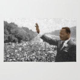 Martin Luther King Junior Wall Art Portrait, Speech, Home Decor, Dorm Decor, Freedom, Rug