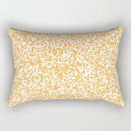Tiny Spots - White and Pastel Orange Rectangular Pillow