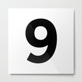 Number 9 (Black & White) Metal Print