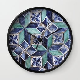 Tiling with pattern 3 Wall Clock