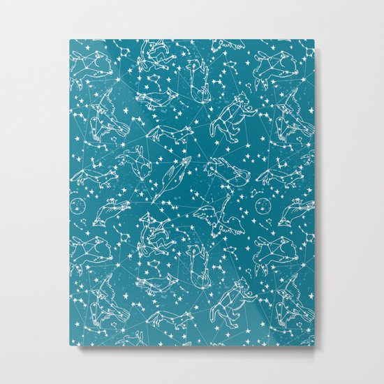 Animal Constellations by Andrea Lauren  Metal Print