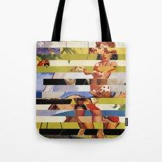Glitch Pin-Up Redux: Farrah Tote Bag