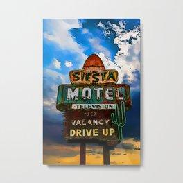 Siesta Motel Art Metal Print