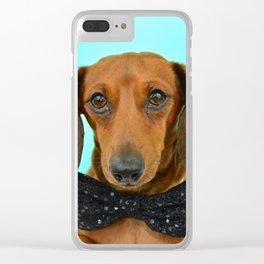 Dachshund in a BowTie Clear iPhone Case