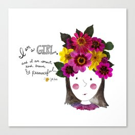 I'm a Girl Canvas Print
