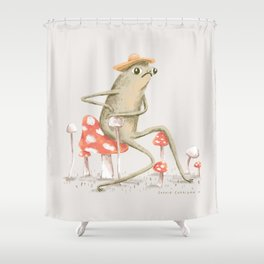 Awkward Toad Shower Curtain