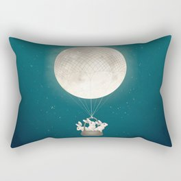 moon bunnies Rectangular Pillow