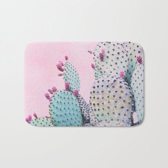 Pink Crush Cactus I Bath Mat
