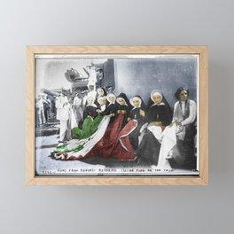 Italian Nuns Framed Mini Art Print