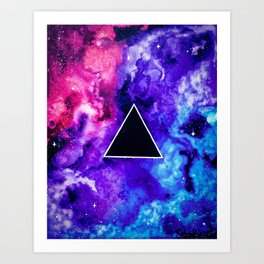 Black Hole Trinity Art Print