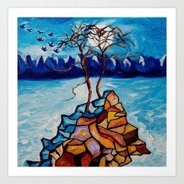 Moonlight Cypress Art Print