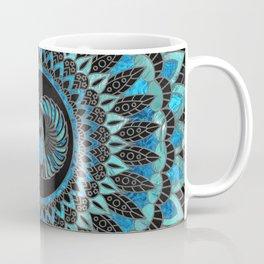 Egyptian Scarab Beetle - Gold and Blue glass Coffee Mug
