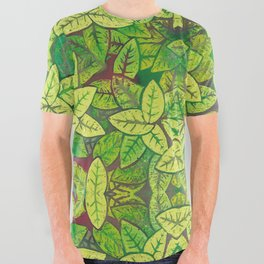 Spring leaves All Over Graphic Tee