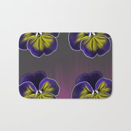 Purple Pansies Bath Mat