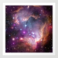 Under the Wing of the Small Magellanic Cloud Art Print