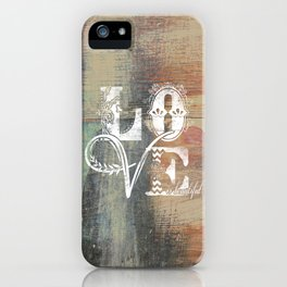 Love is beautiful iPhone Case