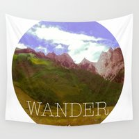 wander Wall Tapestries featuring wander by Neon Chalice