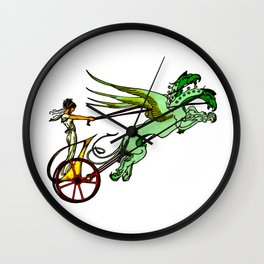 The Medea's Chariot Drawn by Dragons Wall Clock