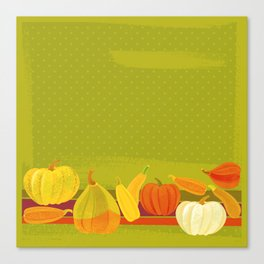 Autumn Pumpkins Canvas Print