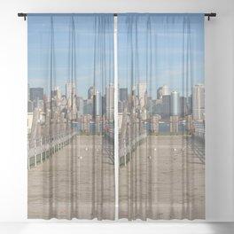 New York City Skyline Sheer Curtain
