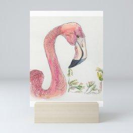Flamingo pink Mini Art Print