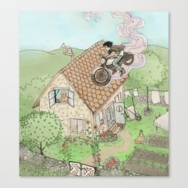 lupin's cottage Canvas Print